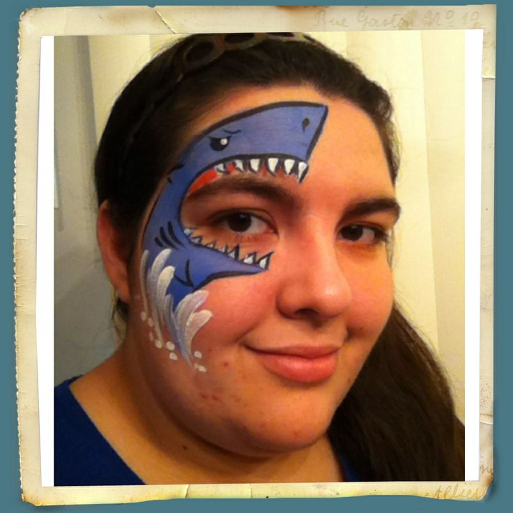 Shark face painting | Face Paintings by Kiona | Pinterest ...