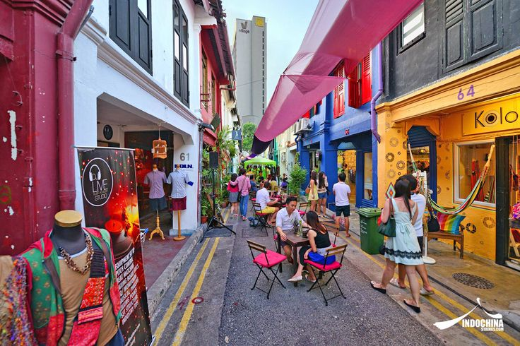 Historically known as the Malay quarters, Kampong Glam features the rich delights and charms of the many cafés, eateries and street stalls. Amidst the bustling precinct is Haji Lane, an alleyway that is home to various quirky bistros and independent boutiques, making it a spot where centuries-old #Singapore culture and cosmopolitan chic collide.   See more: www.indochinastrings.com
