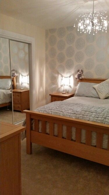 Laura Ashley coco design wallpaper and bedding.