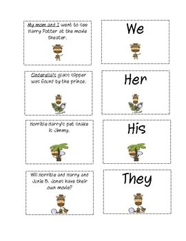 Pronoun Word Detective: There is a memory/matching game, a board game for 2 players, and a lift the flap writing activity