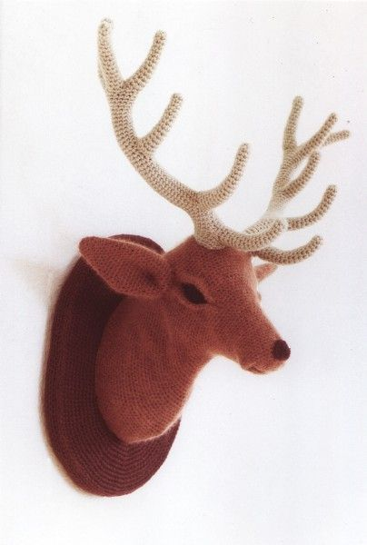 I can hang this at the house! [amazing crochet deer.]