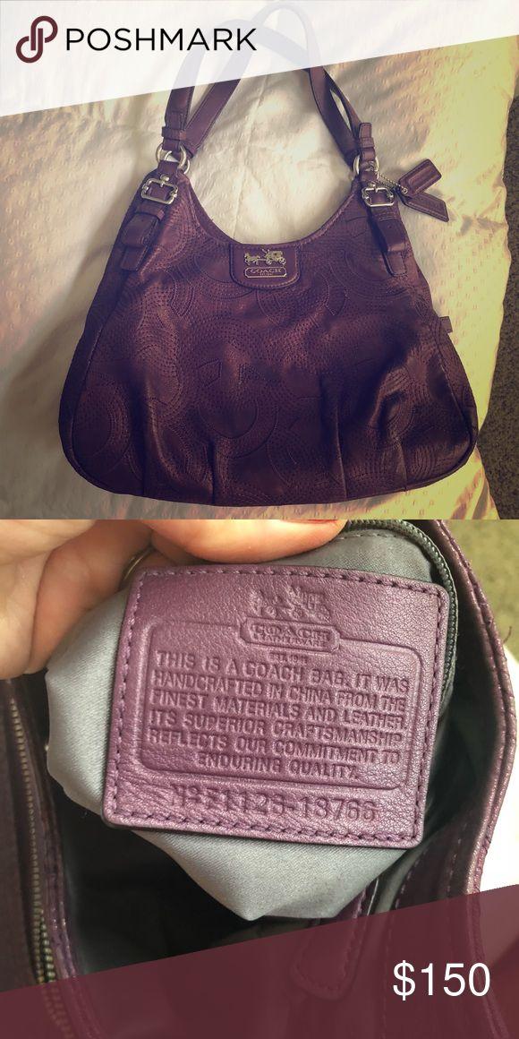 Authentic Coach Hobo bag Beautiful purple with sparkle embellishment EUC Coach Bags Shoulder Bags