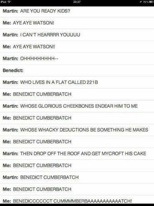 I sang this in my head. Love it. And I died a bit,
