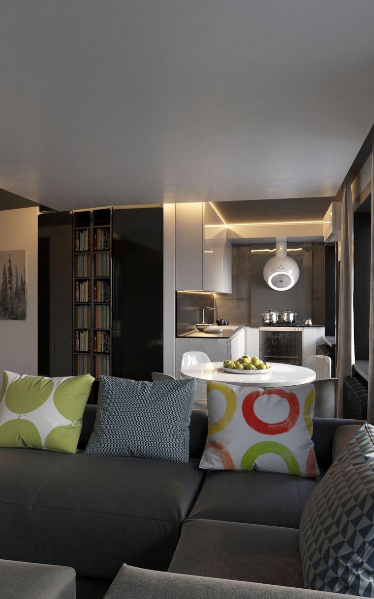 Kухонная зона в небольшой квартире-студии. - ALNO. Современные кухни: дизайн и эргономика | PINWIN - конкурсы для архитекторов, дизайнеров, декораторов