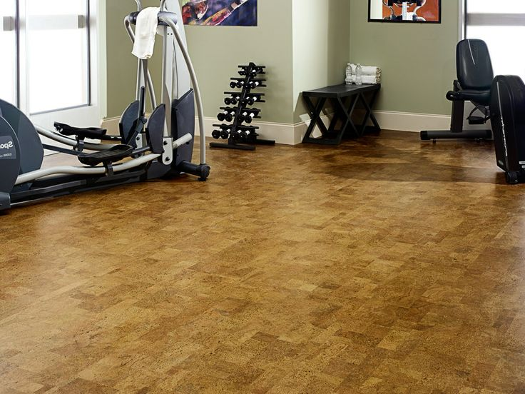 Cork floors in a workout room for the home pinterest