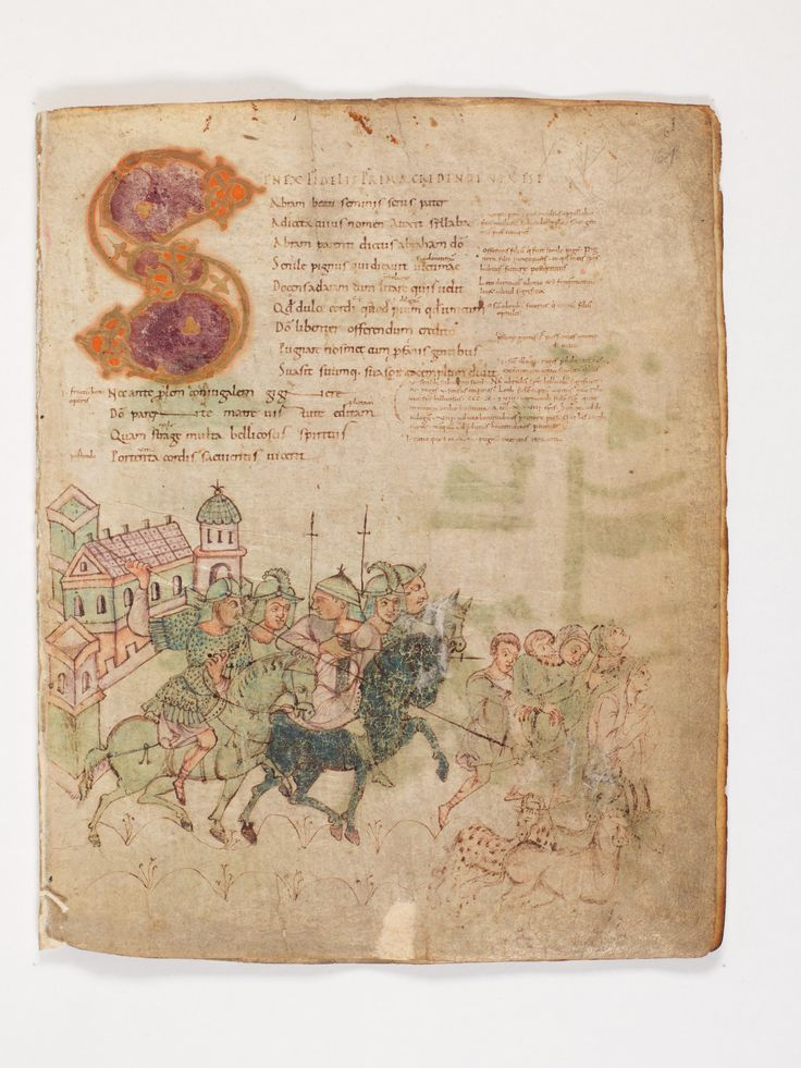 Bern, Burgerbibliothek, Cod. 264, Prudentius, Carmina, p.61, region of Lake Constance, around 900