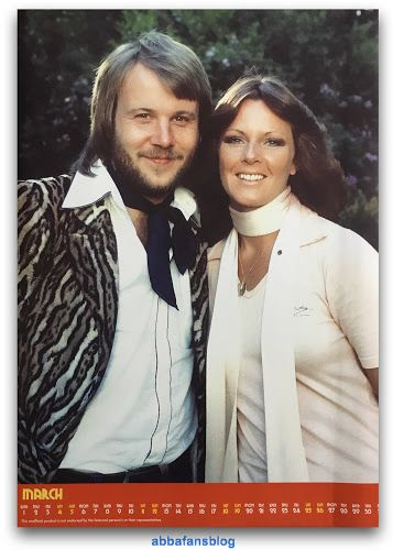 A great picture of Frida and Benny for March from my 2017 Abba Calendar... #Abba #Frida http://abbafansblog.blogspot.co.uk/2017/02/abba-calendar.html