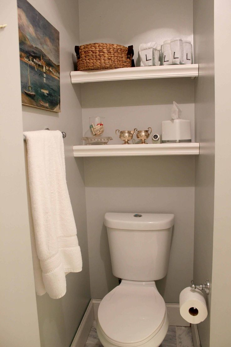 Image from http://tovtov.com/wp-content/uploads/bathroom-ideas-well-liked-white-wall-mounted-open-shelves-as-inspiring-over-the-toilet-storage-for-crafts-display-as-well-as-towel-bar-in-small-space-modern-grey-half-bathroom-ideas-prodigious-over-t.jpg.