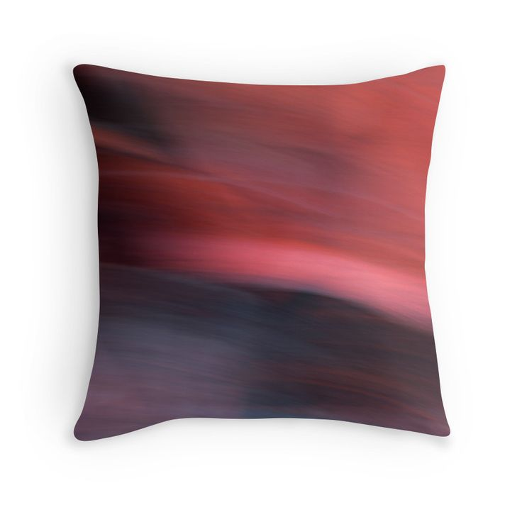 Abstract Red / Rouge abstrait Throw Pillows by Galerie 503