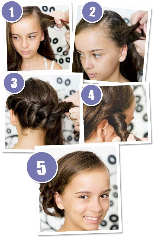 Step by step instructions for an easy rope braid hair style