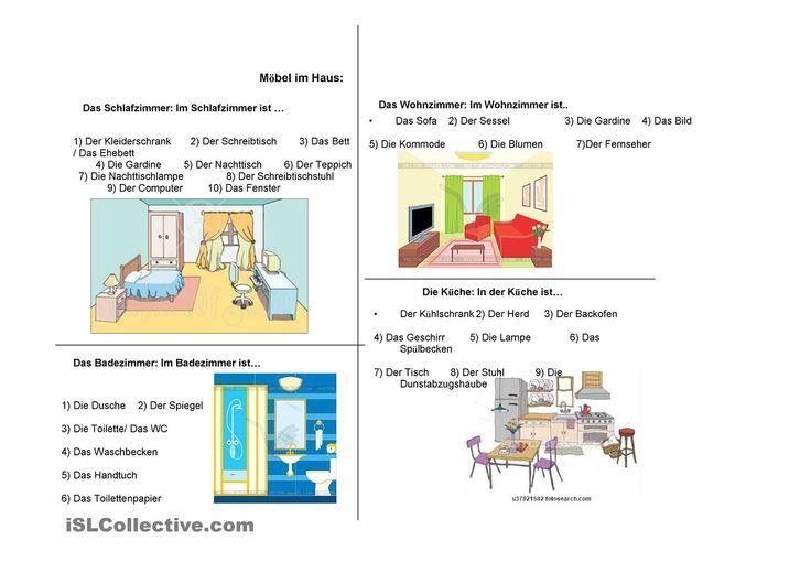 252 besten german wohnung bilder auf pinterest deutsch lernen deutsch wortschatz und lernen. Black Bedroom Furniture Sets. Home Design Ideas