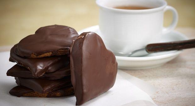Σοκολατένια μπισκότα καρδιές
