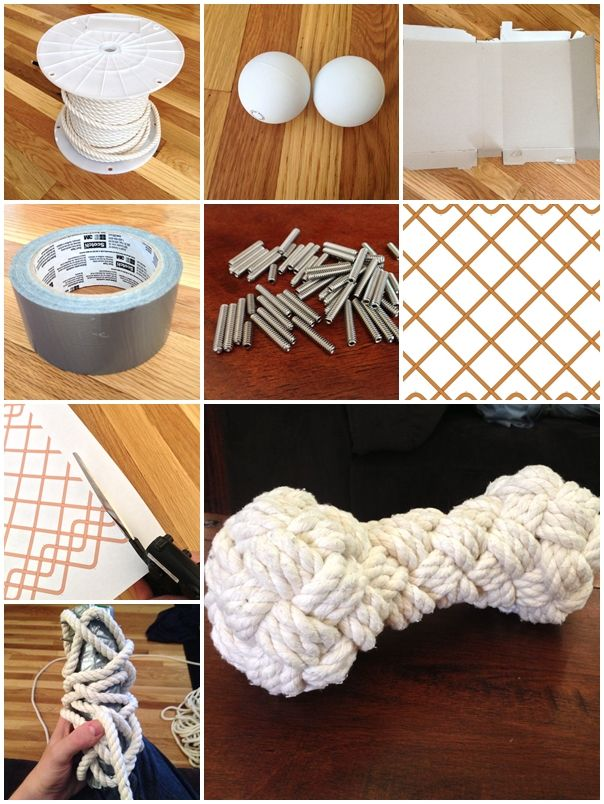 how to make Woven rope bone dog toy step by step DIY