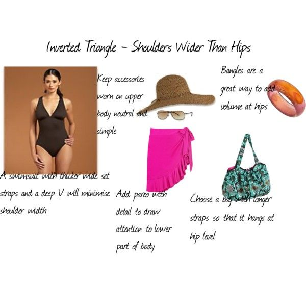 Inverted Triangle - Swimwear, created by #aileenlane on #polyvore. #fashion #style Tommy Bahama JETS by Jessika Allen