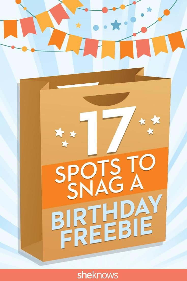 Did you know all these stores actually gave you freebies on your birthday? Pin to make sure you snag them all!