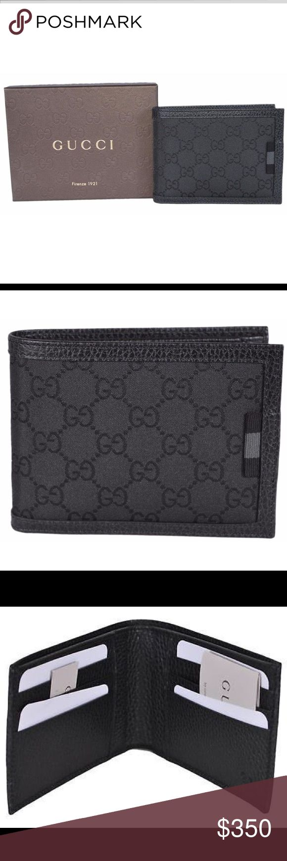 Authentic New Gucci men's wallet Authentic New with box. Men's Gucci guccissima bifold wallet. Leather/canvas Gucci Accessories Money Clips