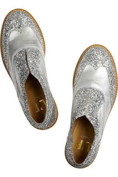 L'F Shoes glitter silver.