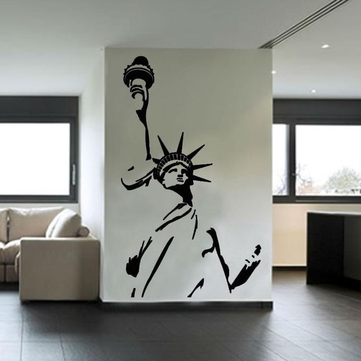 Statue Of Liberty Wall Sticker New York City Symbolic Living Room  Decorative Wall Decal Vinyl Removable DIY Home Decor
