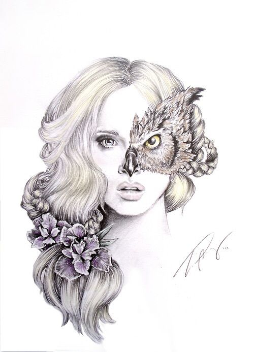 Owl girl - image #3698418 by helena888 on Favim.com