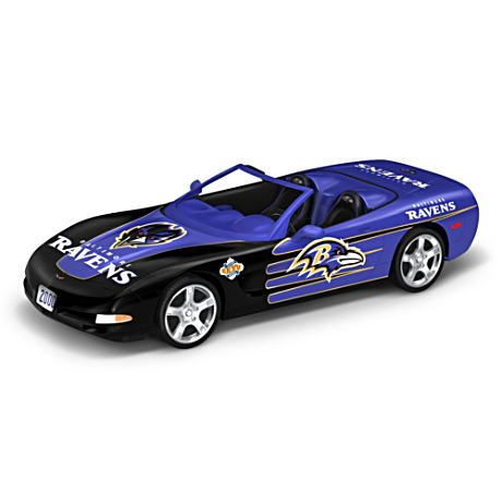 Baltimore Ravens Super Bowl XXXV Corvette Figurine---DJ...we REALLY need this one to go with the car collection!