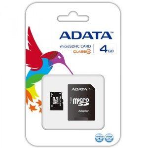 Memoria Adata Micro SDHC 4GB
