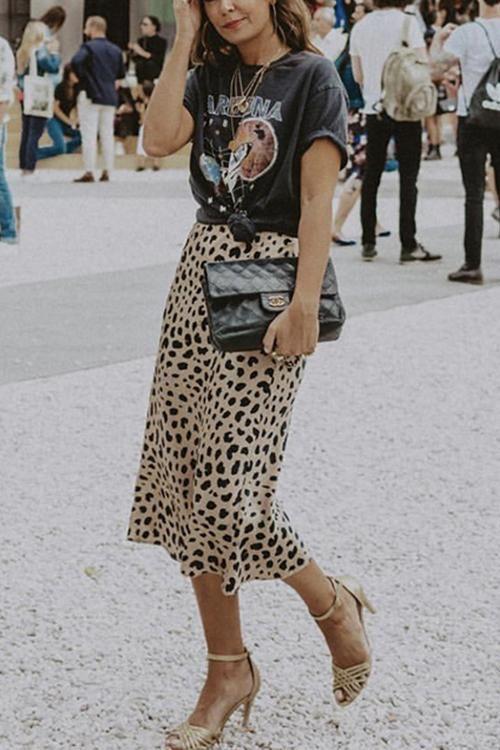 Street Fever Leopard Print Skirt