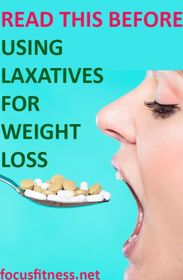 Lose weight quickly using laxatives