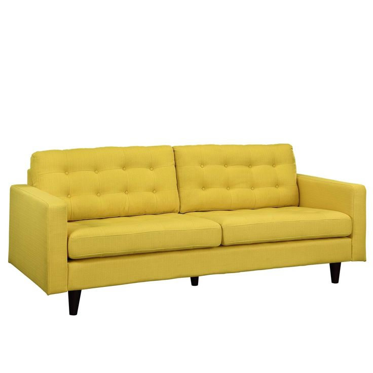 empress upholstered sofa in sunny