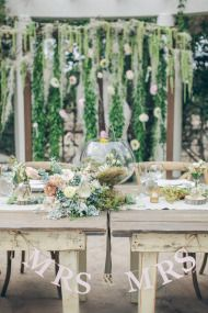 The arbor & the little hearts on sticks!    Rustic Summer Wedding at Orcutt Ranch - Style Me Pretty