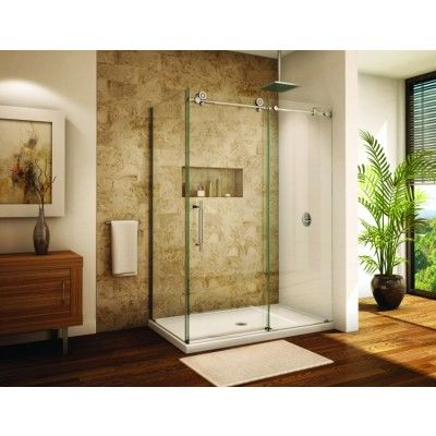 USD 3100 ...Fleurco Kinetik In-Line Shower Door With Return Panel KRWR5736-35-40