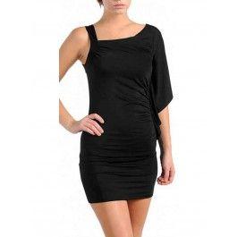 Vestido Negro Corto Ajustado MU359