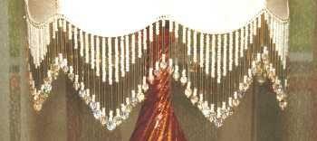 beaded fringe on lampshade