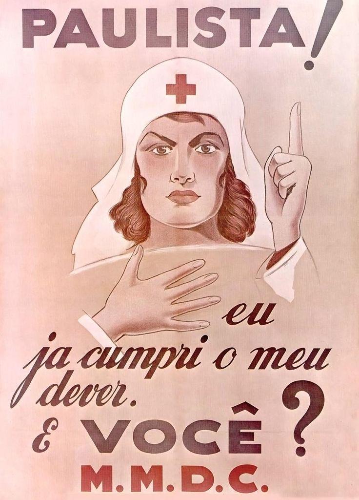 Cartaz do MMDC, 1932, São Paulo, SP (FGV-CPDOC) - Revolução Constitucionalista