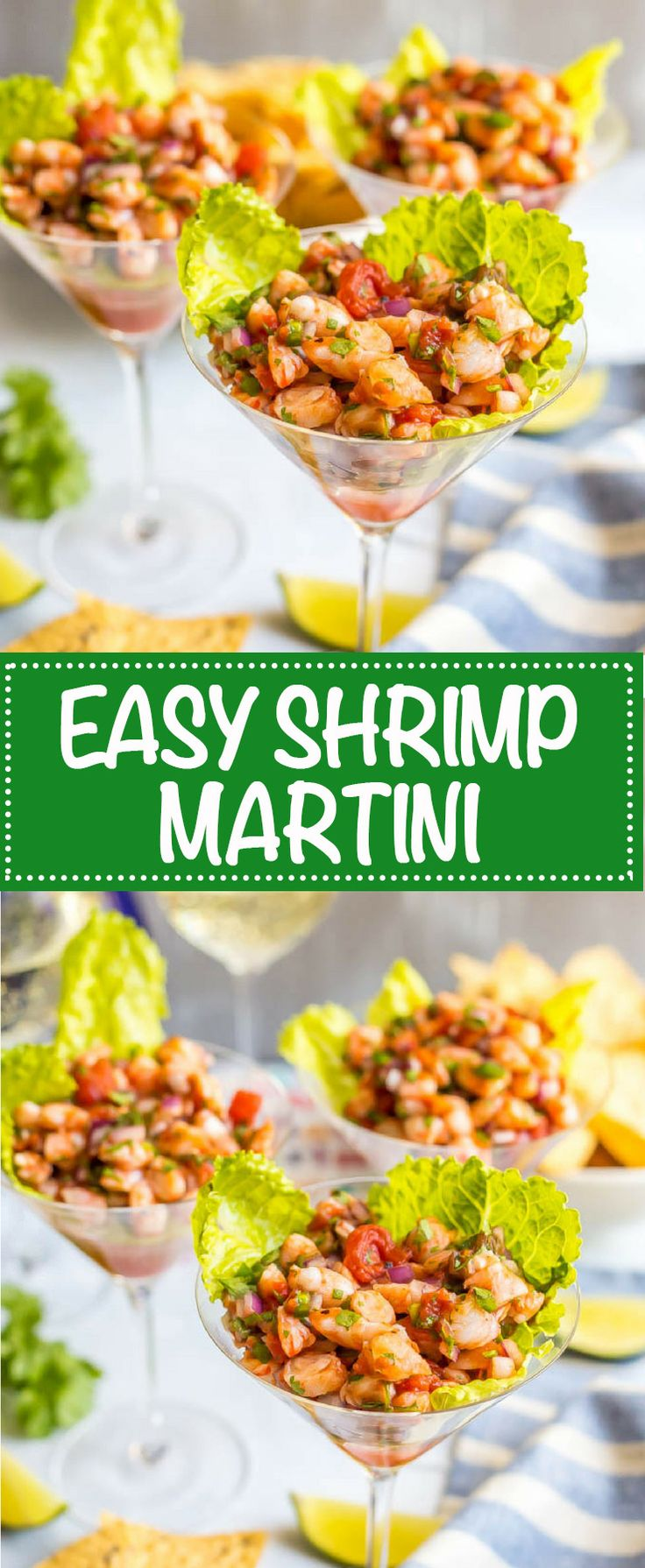 Shrimp martini appetizer is an easy shrimp salsa dip that's perfect for a fun and fancy appetizer with friends and family!   www.familyfoodonthetable.com