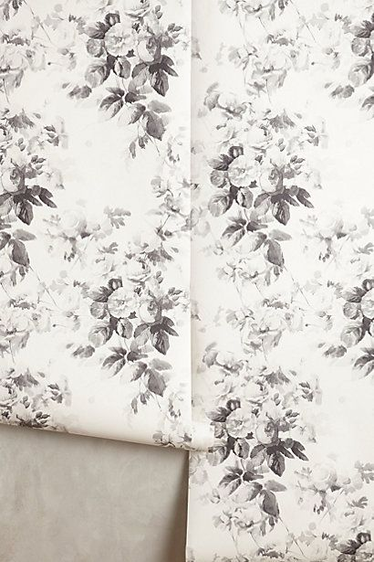 Obsessed with this smoky rose wallpaper!  Thinking of adding it on the accent wall in the kitchen?!?  Smoky Rose Wallpaper #anthropologie