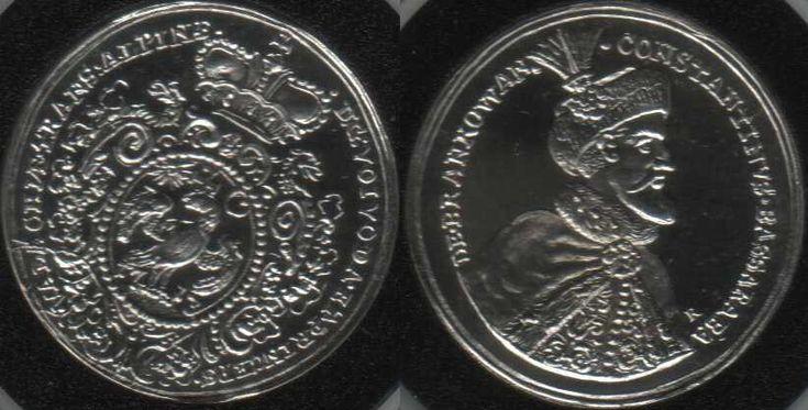 monedă-medalie de la Constantin Brâncoveanu - probă de argint a replicii