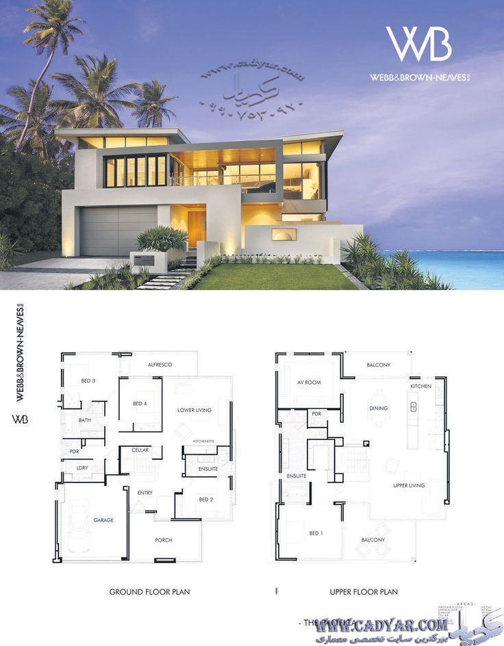 100نمونه ویلا با پلان در قالب Jpg بزرگترین سایت تخصصی معماری Beach House Plans Modern House Plans Architecture House Modern beach house plan