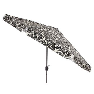 Pillow Perfect Black/ White Damask 9 Foot Patio Umbrella By Pillow Perfect