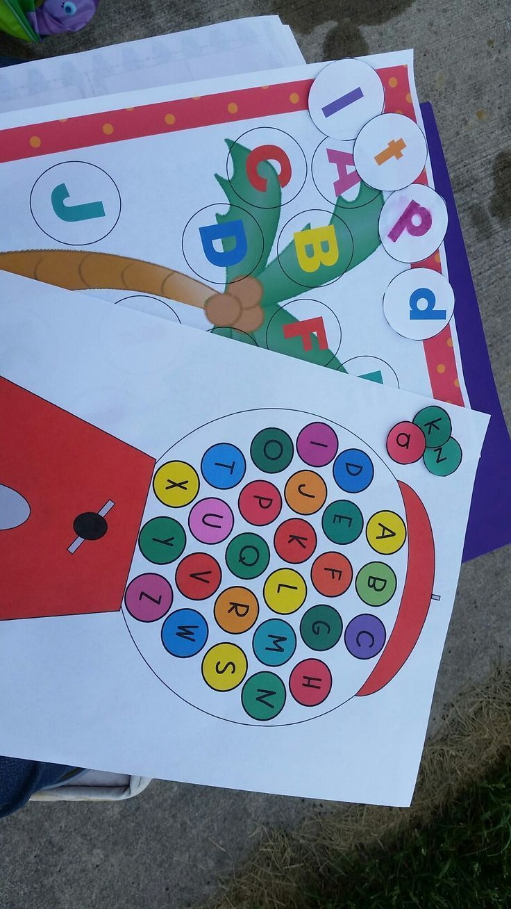 Chicka Chicka Boom Boom and Gumball Machine Matching letter recognition games. These 2 games are part of a 5 pack letter recognition game packet. Other games include different font recognition, mini Play-doh mats and Wipe-It boards. All games come in colo