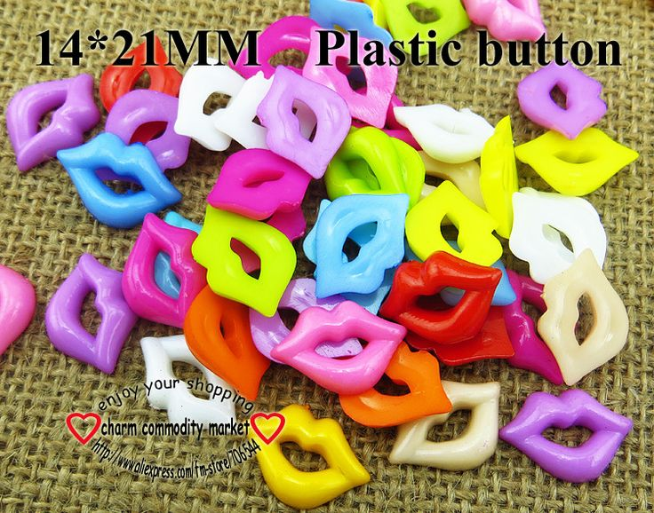 200PCS plastic CARTOON buttonS CHILDREN LIP button MIXED BULK P-131N $4,47
