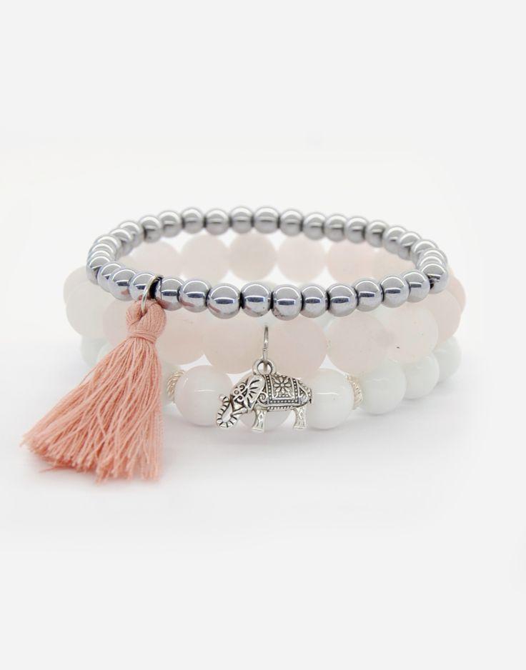 Bracelets / boho style / natural strone