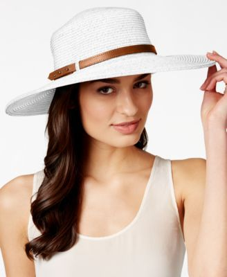 Nine West Packable Floppy Hat $24.99 Travel in style. Nine West's belted floppy hat has a springy shape that pops back into place, so it's perfect for stashing in your suitcase or handbag.