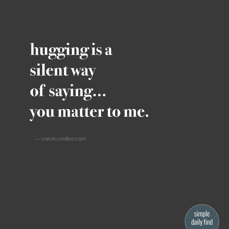 We've all heard of the health benefits of hugging, but in order to fully release the oxytocin in your body you need to hold your hugs for...