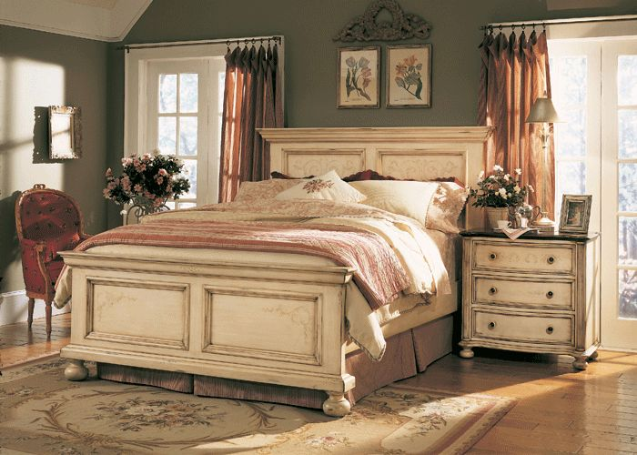 the furniture detailed antique white panel bedroom set sable