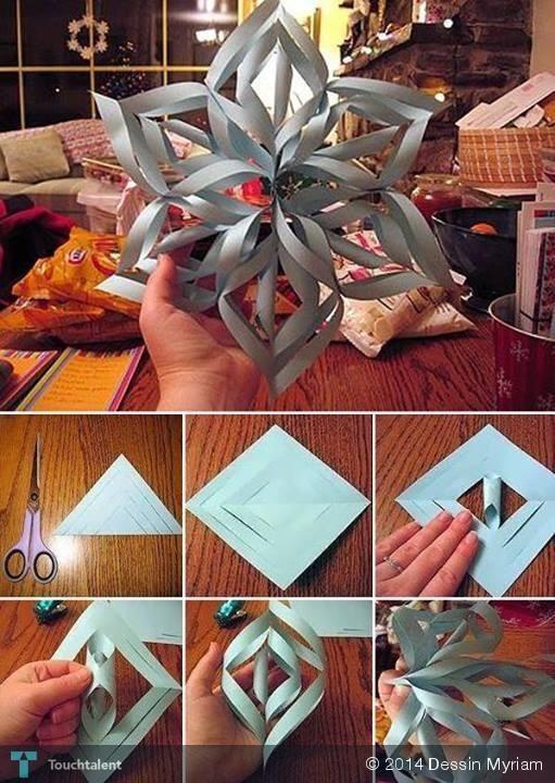 Giant 3D Paper Snowflake: Perfect for the Winter Season #Creative #Art #3DArt @touchtalent.com.com