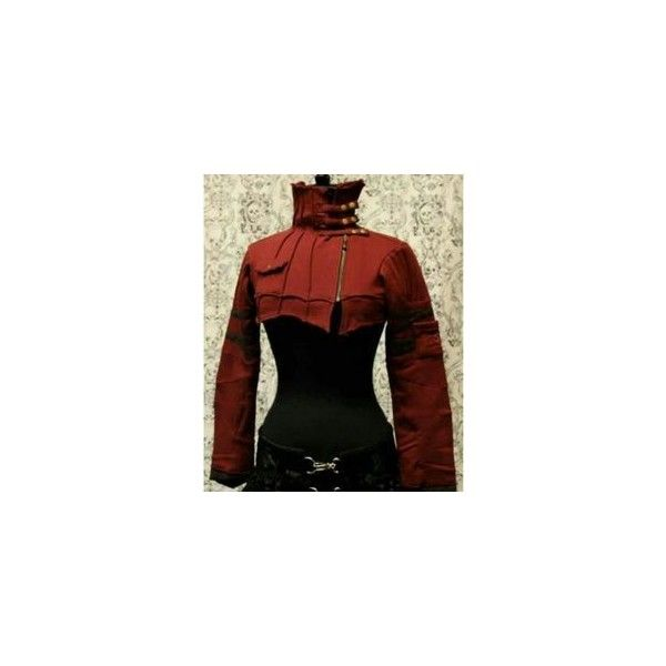 READY TO WEAR Military Steampunk Bolero Steam Gothic Uniform Shrug... ❤ liked on Polyvore featuring costumes, army halloween costumes, goth costume, steampunk costume, pin up costumes and military costumes