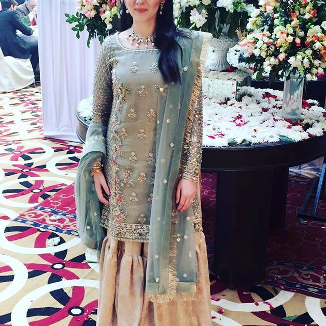 Samara Sufi in a stunning Zara Shahjahan signature Gharara. #zarashahjahan #luxury #heritage #weddings #winterweddings #mehrunissa