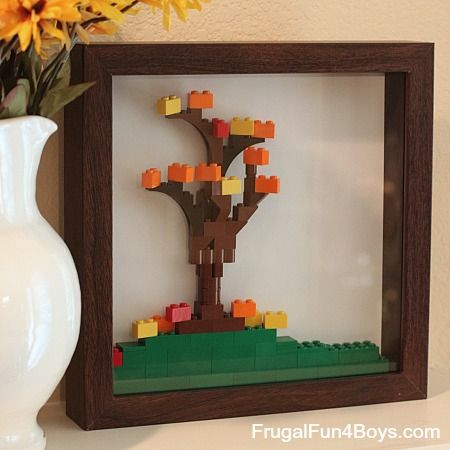 Decorate for fall with Lego!