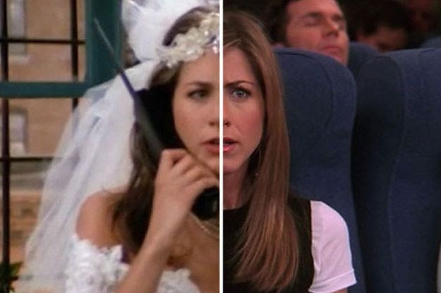 """The Cast Of """"Friends"""" On The First Episode Vs. The Last Episode - you can slide the image to compare the two! Awesome!"""