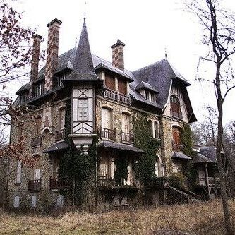 I love old, creepy houses like this!